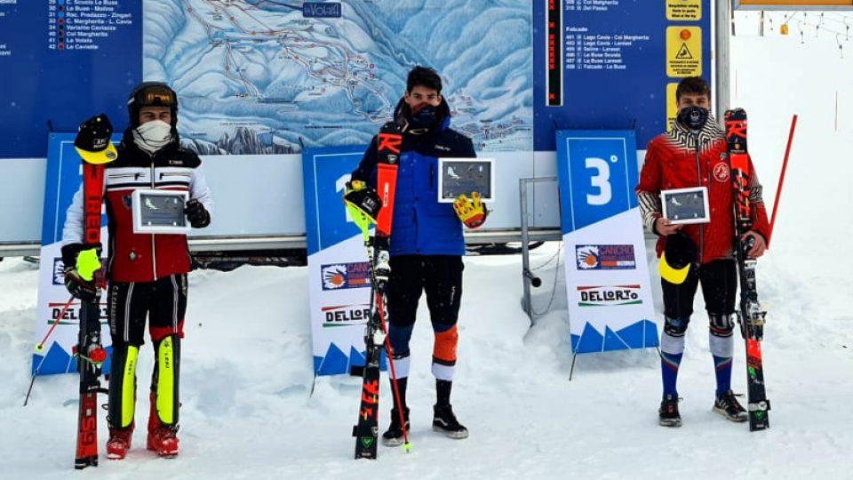 SCI_CLUB_LECCO_podio_andrea_bertoldini_Passo_San_Pellegrino_Slalom_20200121